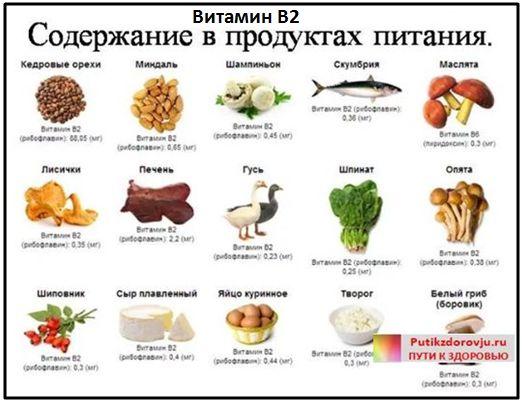 Витамины для улучшения памяти - витамин B2