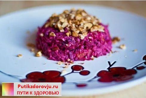 Салаты с вареной свеклой- рецепты-5