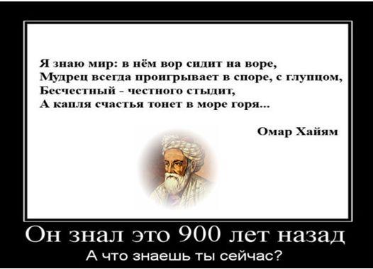 Мудрые высказывания Омара Хайяма-7