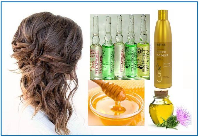 Рецепт маски для волос с витаминами-1