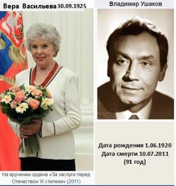 Вера Васильева и Владимир Ушаков
