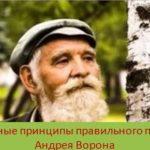 Основные принципы правильного питания Андрея Ворона