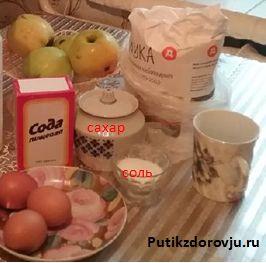 Яблочный пирог быстрого приготовления шарлотка-2