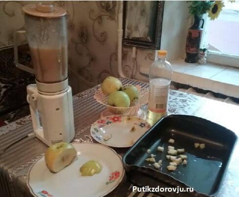 Яблочный пирог быстрого приготовления шарлотка-3
